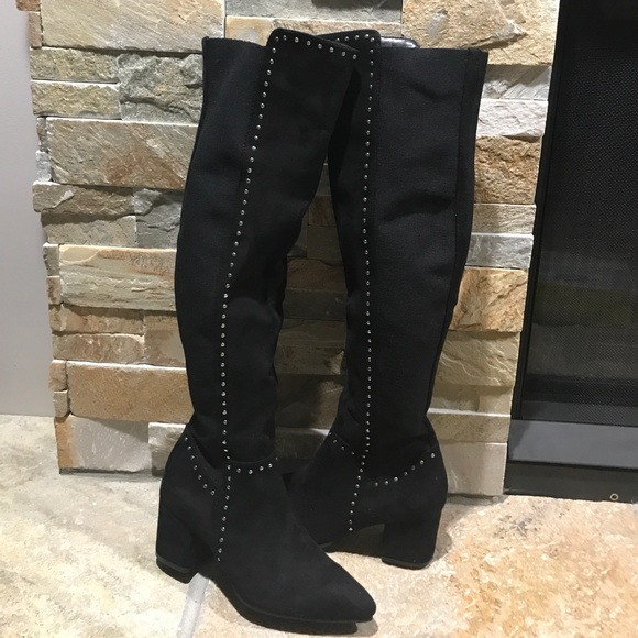 64a5a1f6de9 New in box faux suede over the knee boots